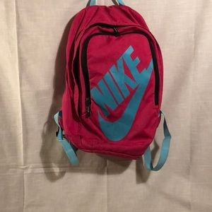 Pink and Blue Nike Backpack